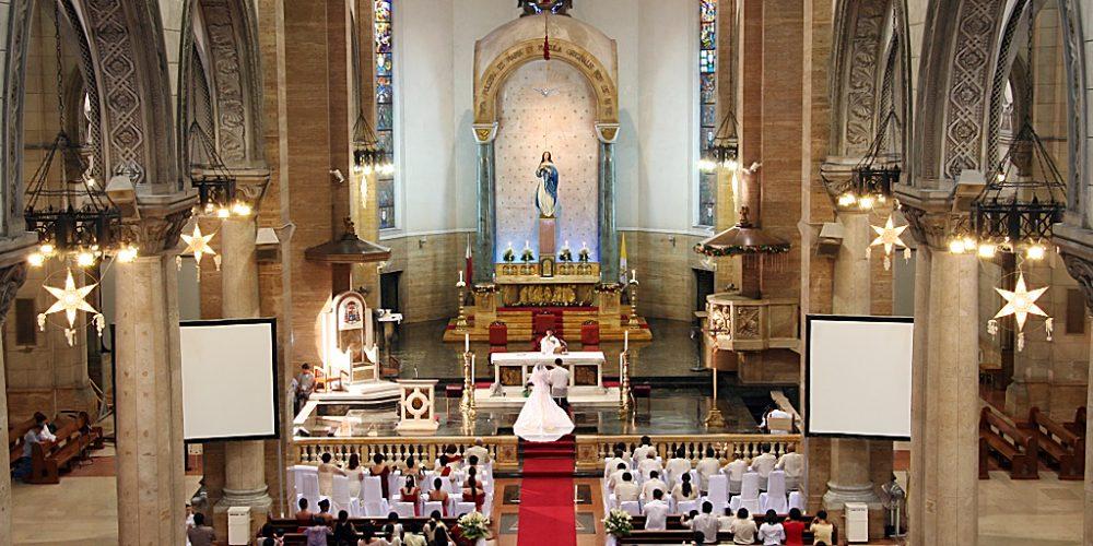 CHURCH WEDDING , FINALLY